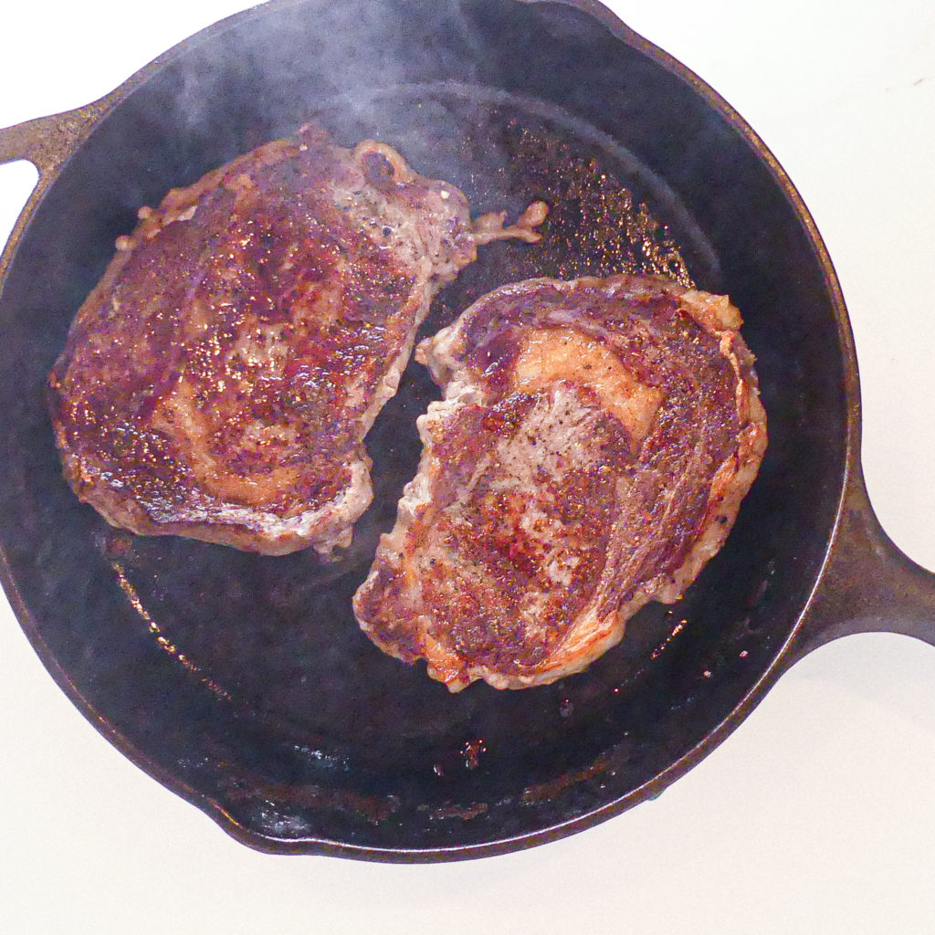 Perfectly Cooked Steak In a Cast Iron Skillet • Indigo Spring Home Recipes
