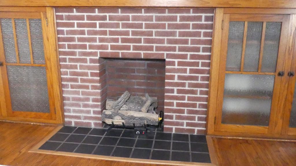 How to update a Brick Fireplace • Indigo Spring Home